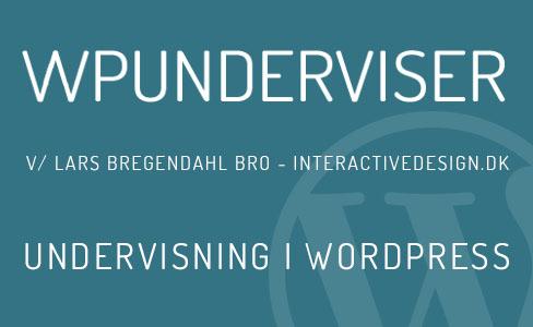 Undervisning i WordPress